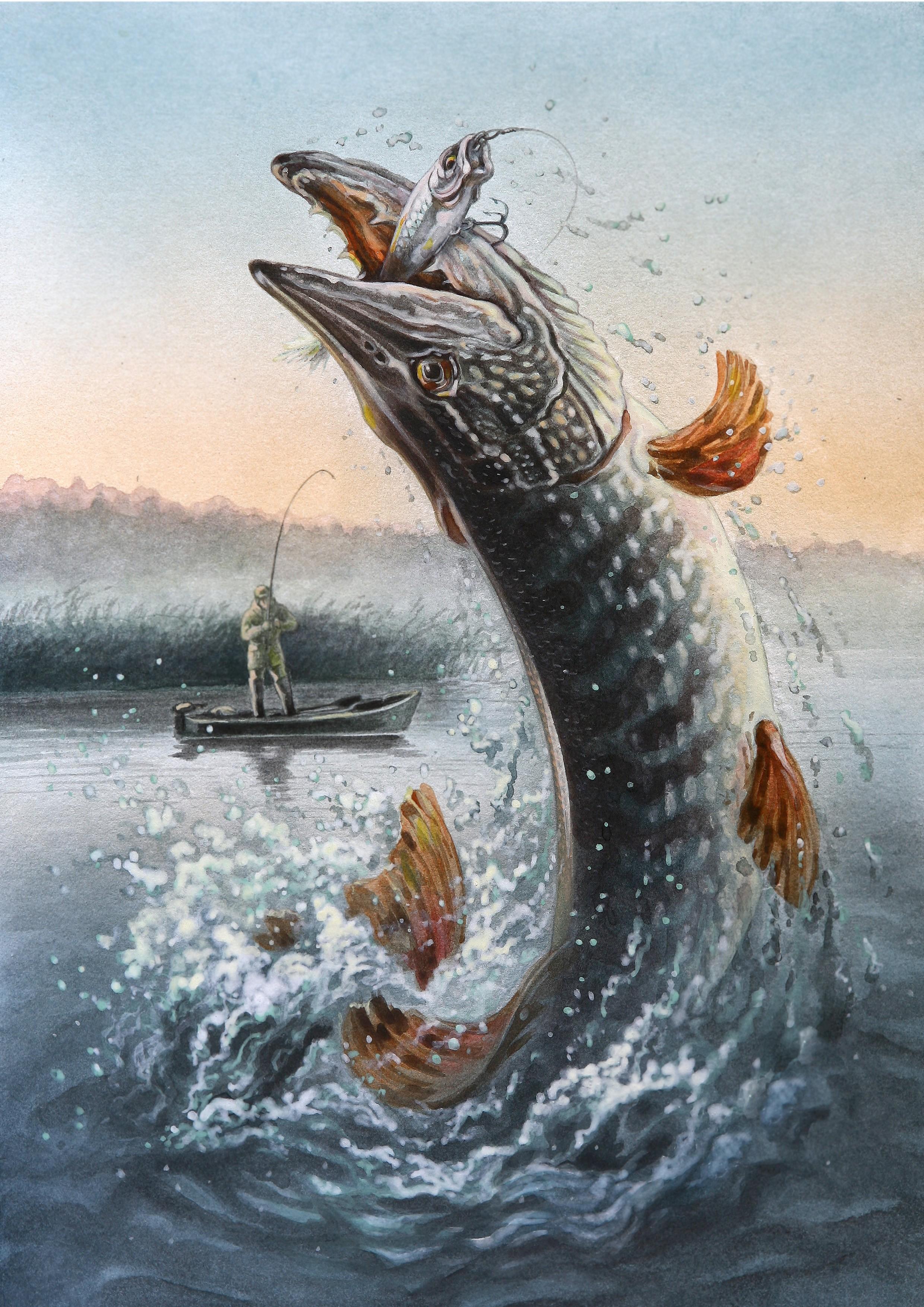 картинки для декупаж рыбалка