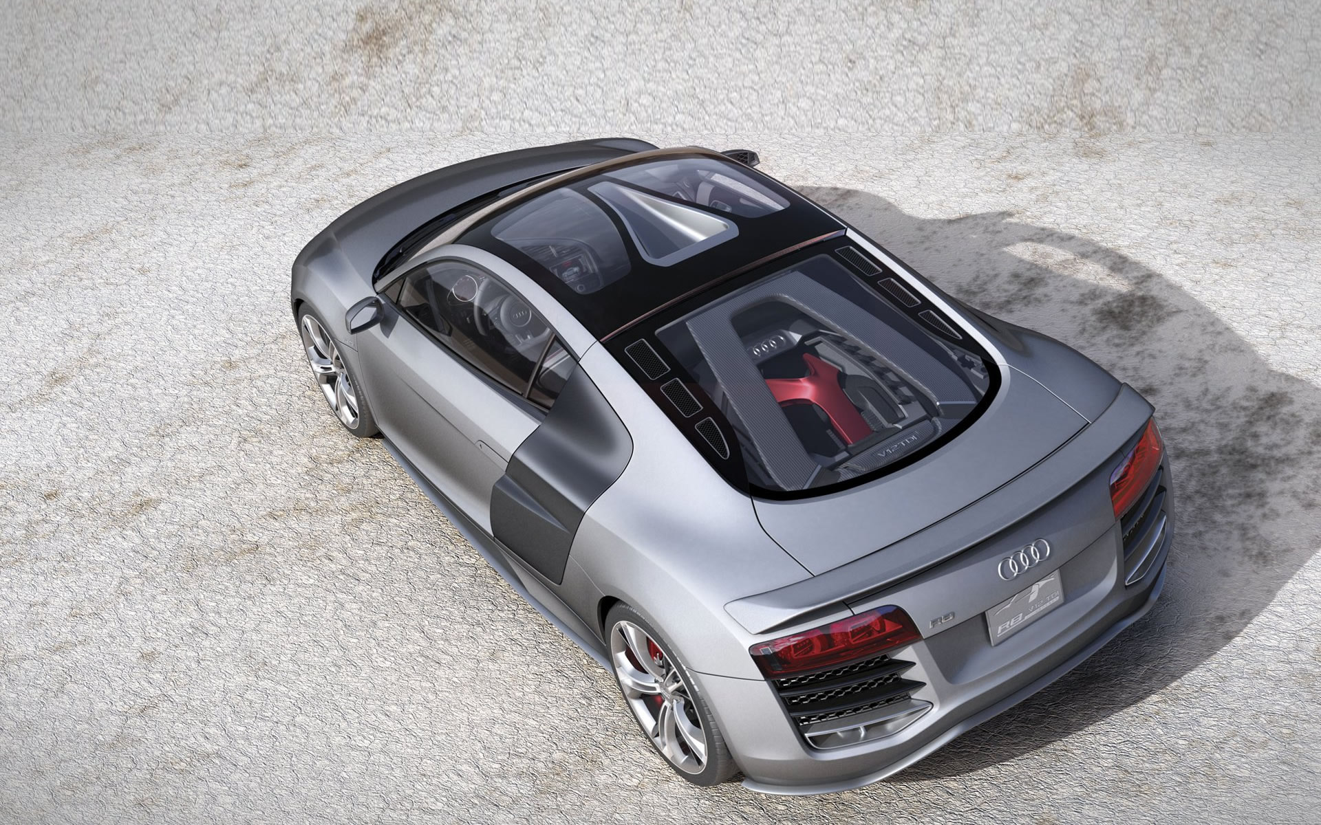 cars, vehicles, supercars, Audi R8, rear angle view - desktop wallpaper