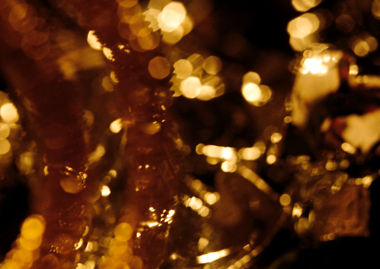 желтые блики на фото