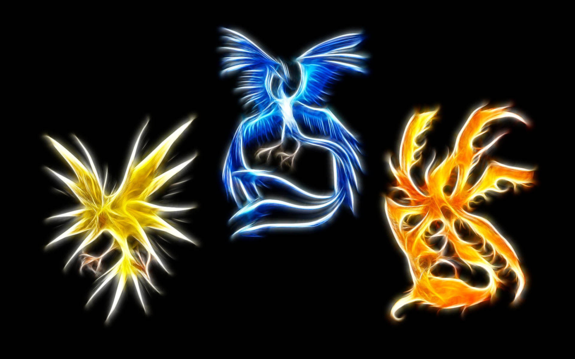Pokemon, Zapdos, Articuno, Moltress - desktop wallpaper