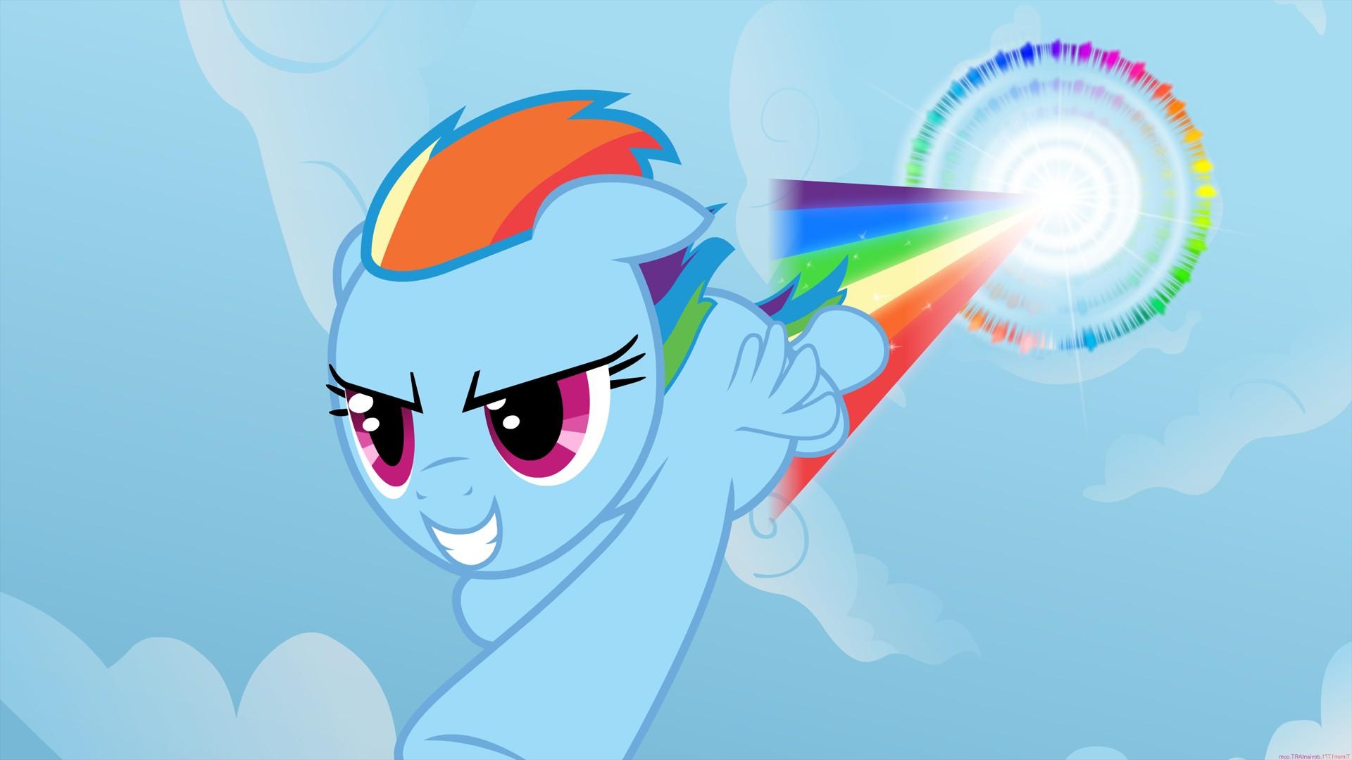 Rainbow Dash does a Sonic Rainboom in style  Blender