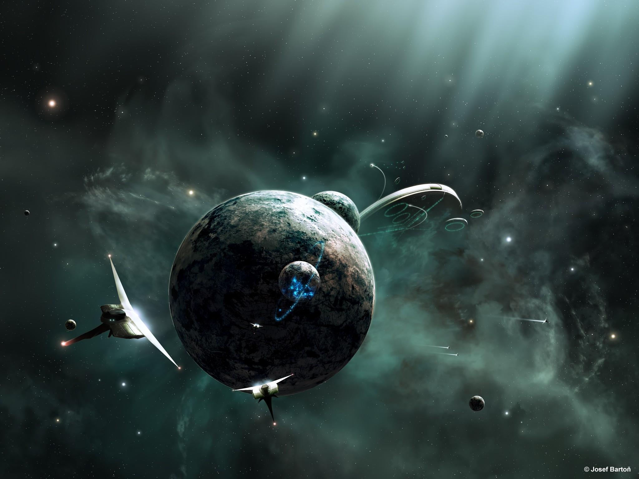 outer space, planets, joejesus, josef barton - free wallpaper