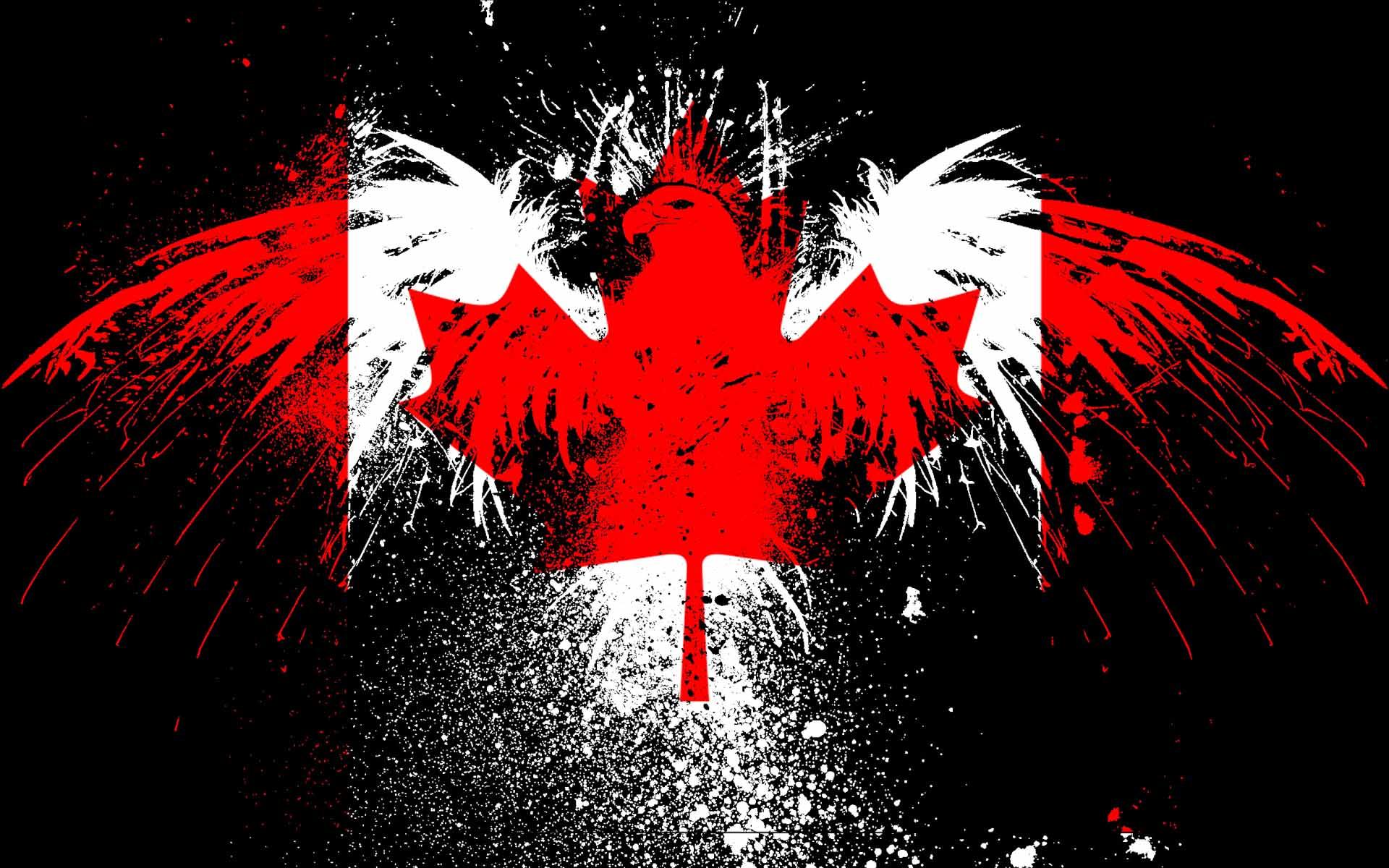 канадский флаг обои для рабочего стола № 506415 загрузить