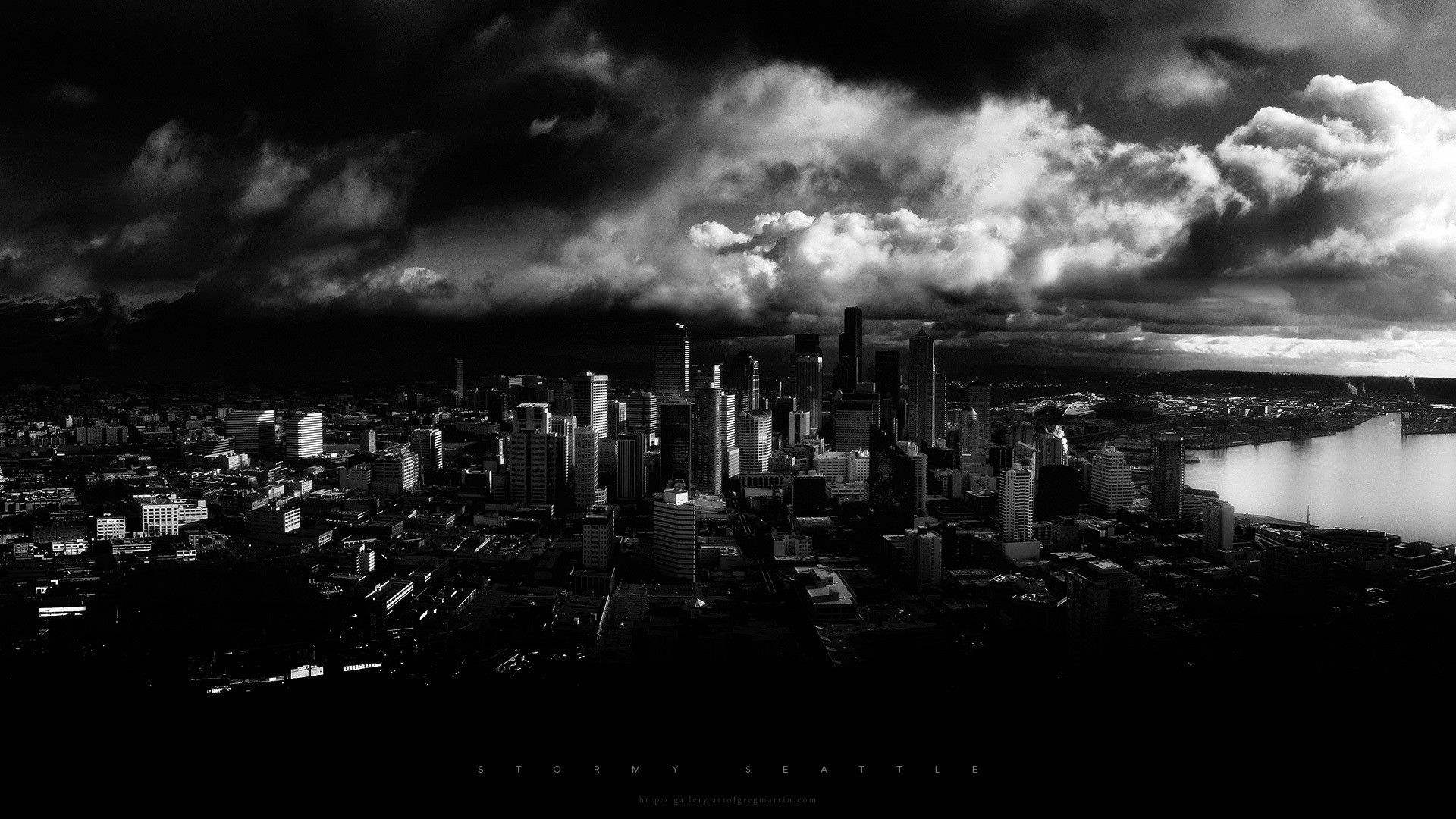 Black and white cityscapes seattle monochrome cities free black and white cityscapes seattle monochrome cities free wallpaper wallpaperjam voltagebd Images