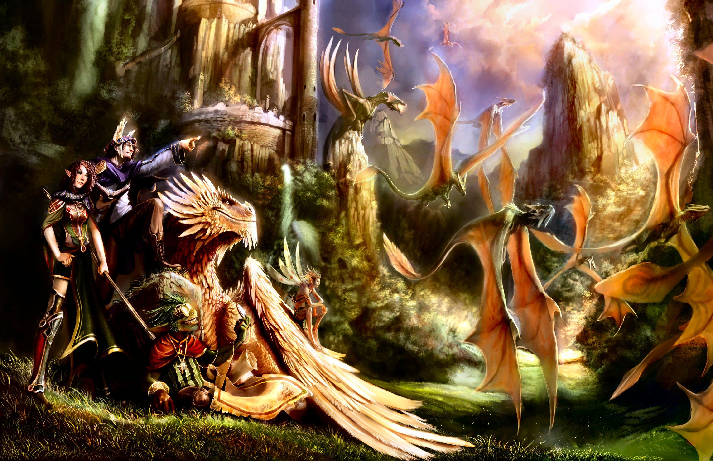 Фото с эльфами и драконами 6 фотография