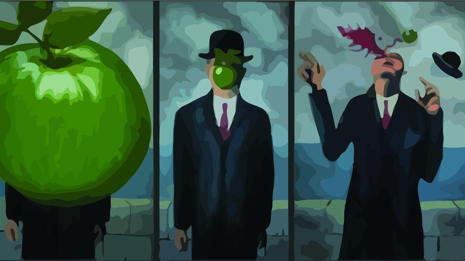 Человек с яблоком вместо лица 9 фотография