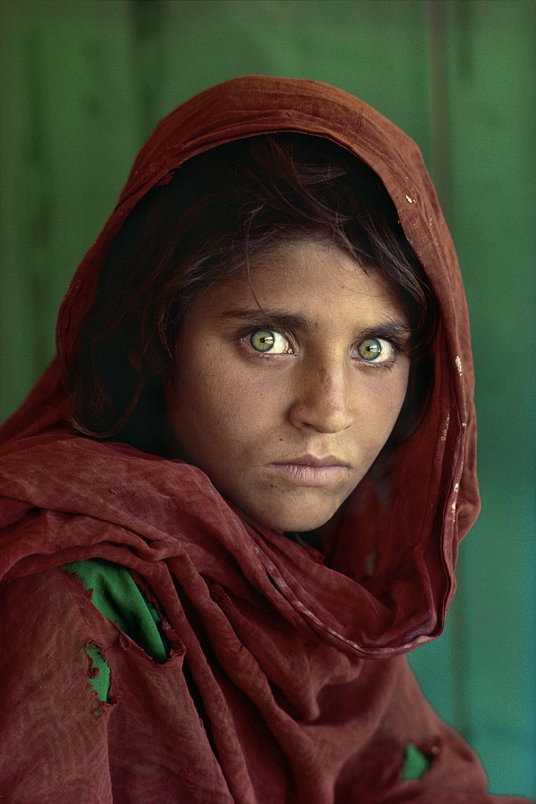 women, Afghanistan, green eyes, National Geographic, portraits, Afghan Girl - desktop wallpaper