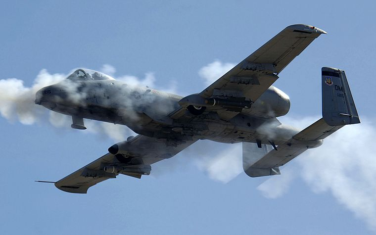 aircraft, military, Warthog, A-10 Thunderbolt II - desktop wallpaper