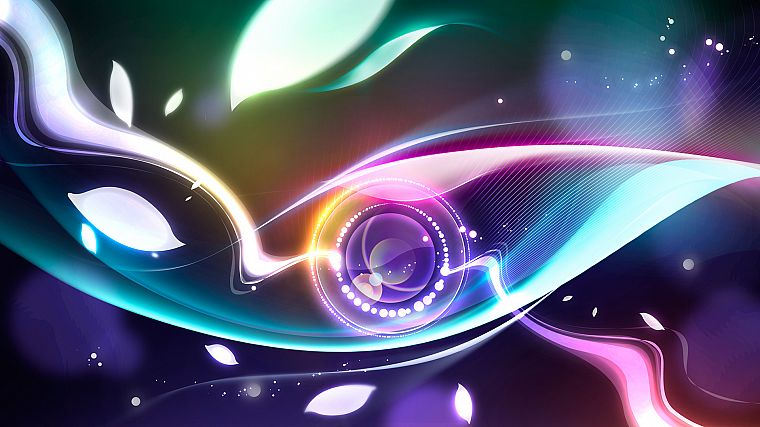 abstract, multicolor, digital art - desktop wallpaper