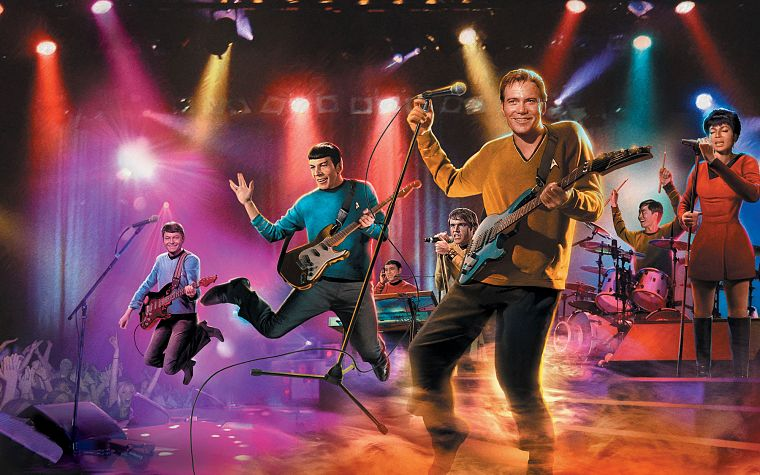 Star Trek, parody, Spock, James T. Kirk, band, Uhura - desktop wallpaper