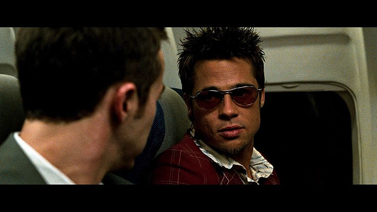 aircraft, Fight Club, Brad Pitt, Edward Norton, screenshots - desktop wallpaper