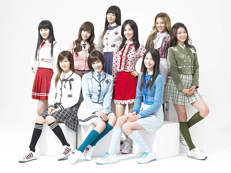 women, school uniforms, Girls Generation SNSD, celebrity - desktop wallpaper