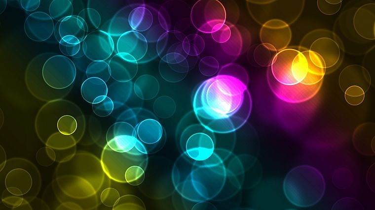 abstract, circles, glowing, bokeh - desktop wallpaper
