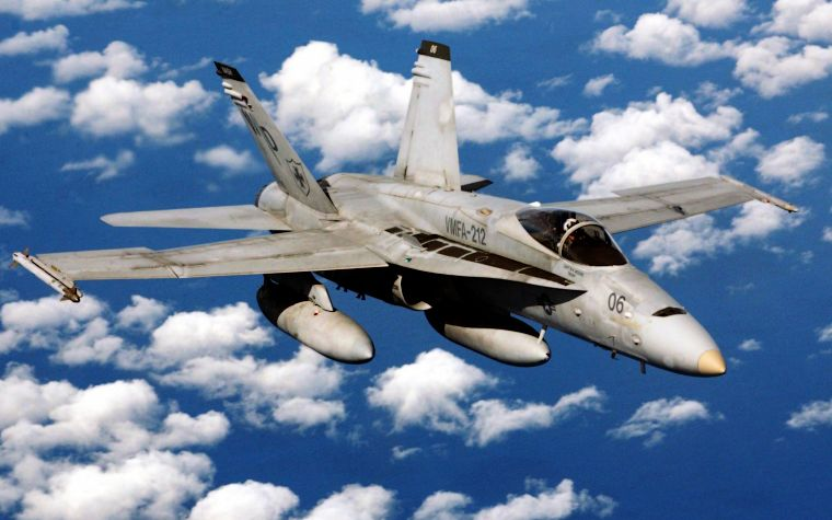 aircraft, military, USMC, F18 Hornet - desktop wallpaper