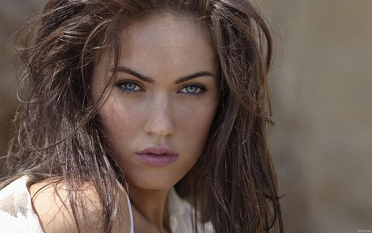 brunettes, women, Megan Fox, actress, celebrity, faces - desktop wallpaper