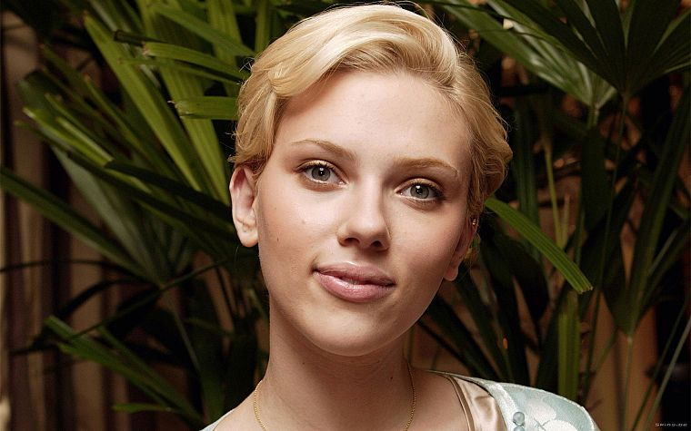 blondes, women, Scarlett Johansson, actress, faces - desktop wallpaper