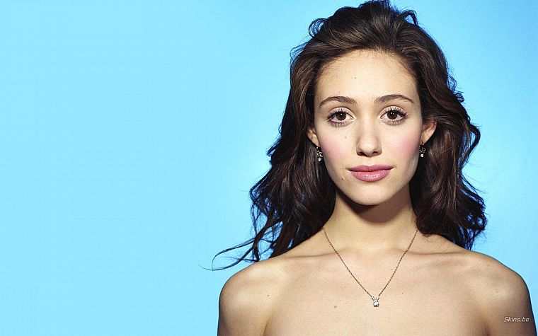 brunettes, women, actress, Emmy Rossum, faces - desktop wallpaper
