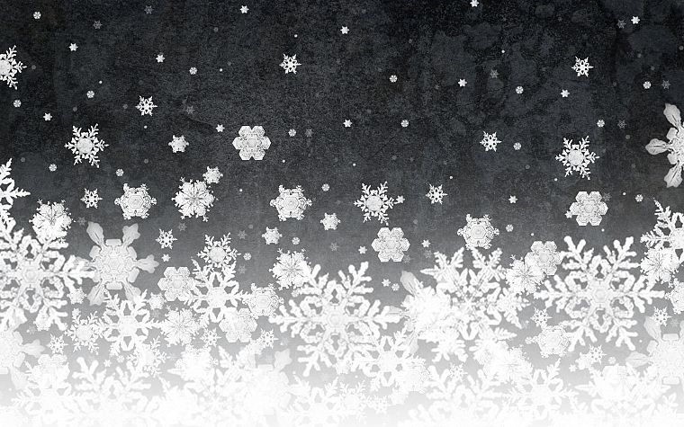 abstract, snowflakes - desktop wallpaper