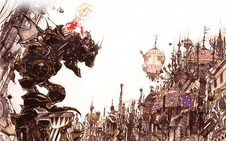 video games, Yoshitaka Amano, Final Fantasy VI - desktop wallpaper