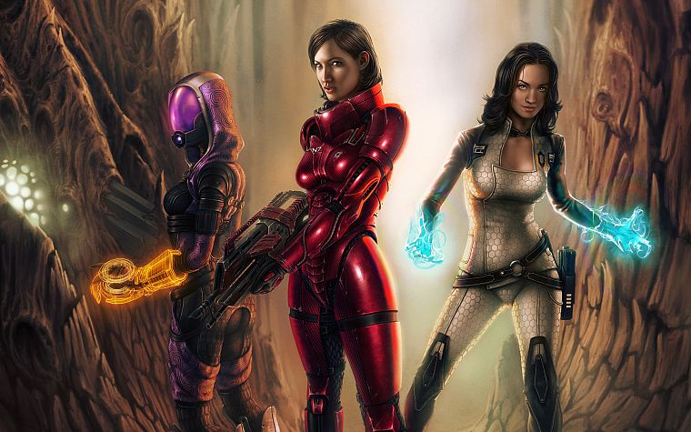video games, Mass Effect, Yvonne Strahovski, Miranda Lawson, BioWare, FemShep, Commander Shepard, Tali Zorah nar Rayya - desktop wallpaper
