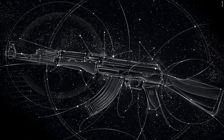 guns, AK-47, Matei Apostolescu - desktop wallpaper