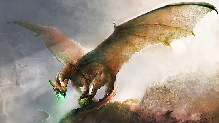 wings, dragons, fantasy art, artwork - desktop wallpaper