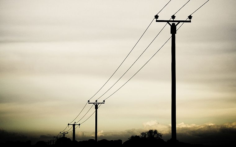 power lines, skyscapes - desktop wallpaper