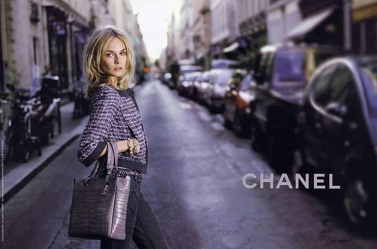 women, actress, models, fashion, Diane Kruger, purses, Chanel - desktop wallpaper