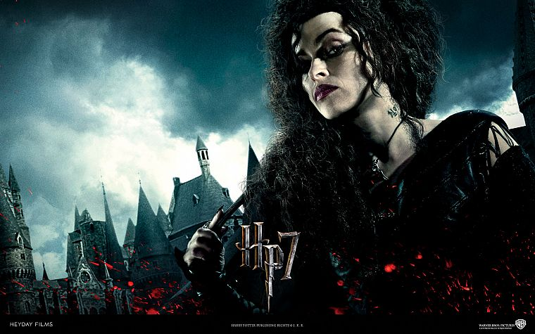 actress, Harry Potter, Helena Bonham Carter, Harry Potter and the Deathly Hallows, Bellatrix Lestrange, Death Eaters - desktop wallpaper