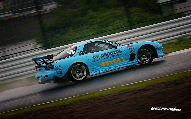 cars, Mazda, drifting cars, vehicles, racing, RX-7 - desktop wallpaper