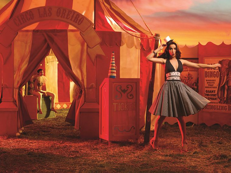women, dress, models, Natalia Oreiro, circus - desktop wallpaper