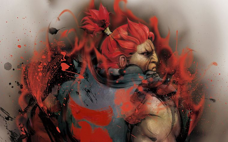 video games, Street Fighter, Akuma - desktop wallpaper