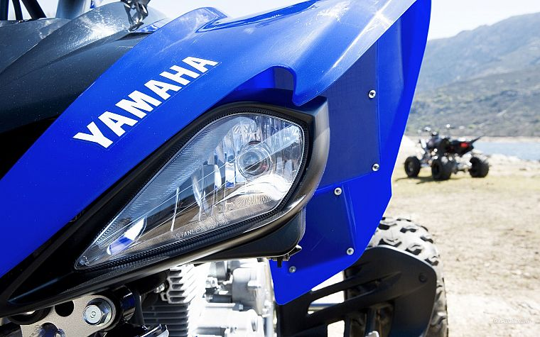 Yamaha, vehicles, depth of field, yfm250r - desktop wallpaper