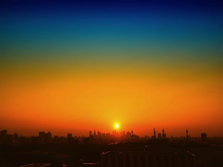 sunset, landscapes, cityscapes - desktop wallpaper
