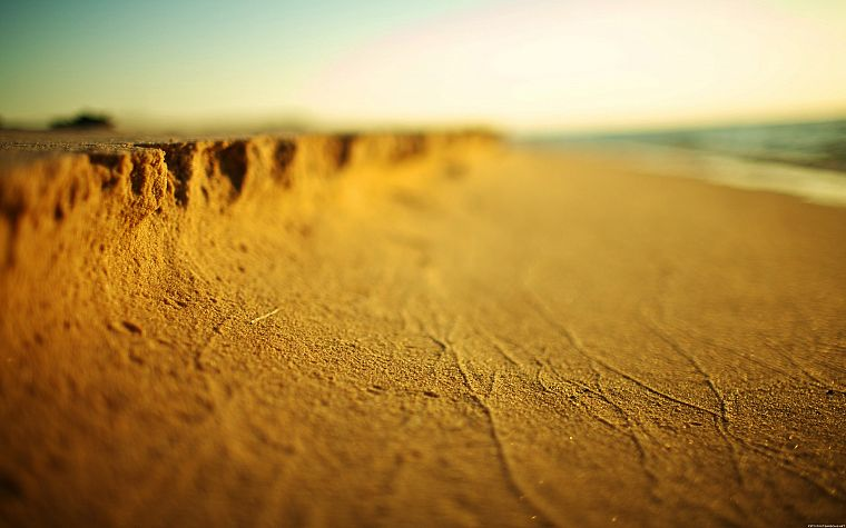 sand, depth of field, beaches - desktop wallpaper