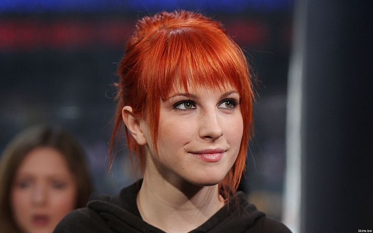 Hayley Williams, Paramore, women, music, redheads, celebrity, singers, faces - desktop wallpaper