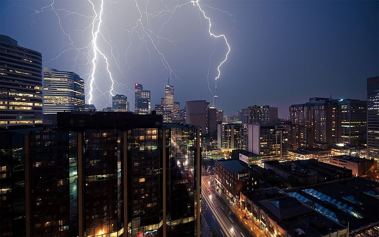 cityscapes, lightning - desktop wallpaper