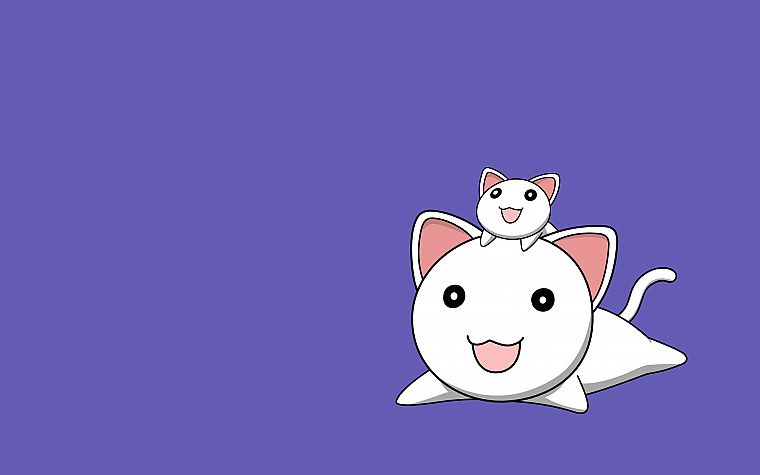 Azumanga Daioh, smiling, simple background - desktop wallpaper