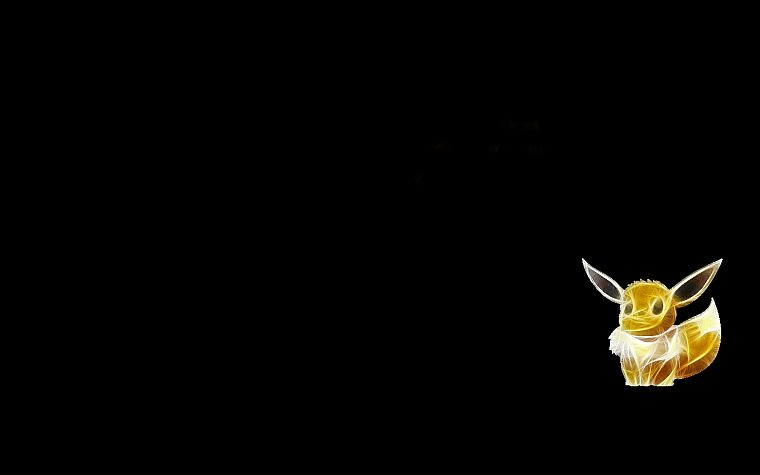 Pokemon, Eevee, black background - desktop wallpaper