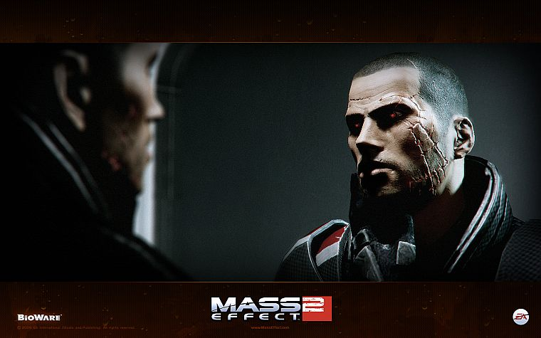 BioWare, Mass Effect 2, Commander Shepard - desktop wallpaper