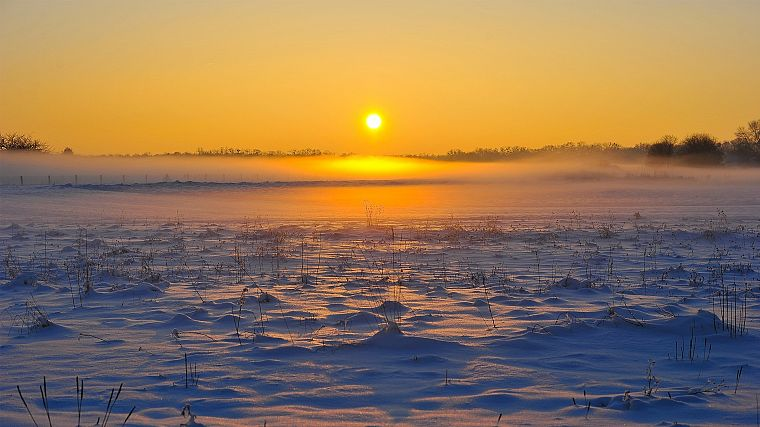 ice, sunrise, landscapes, nature, snow landscapes - desktop wallpaper