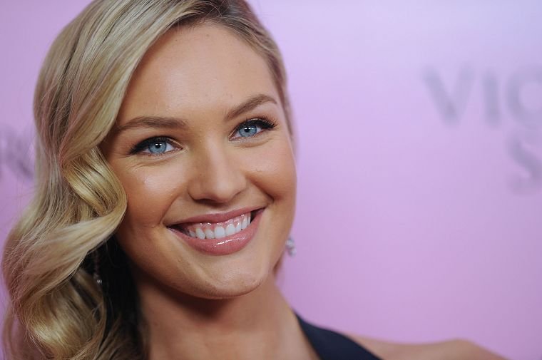 women, blue eyes, Candice Swanepoel - desktop wallpaper