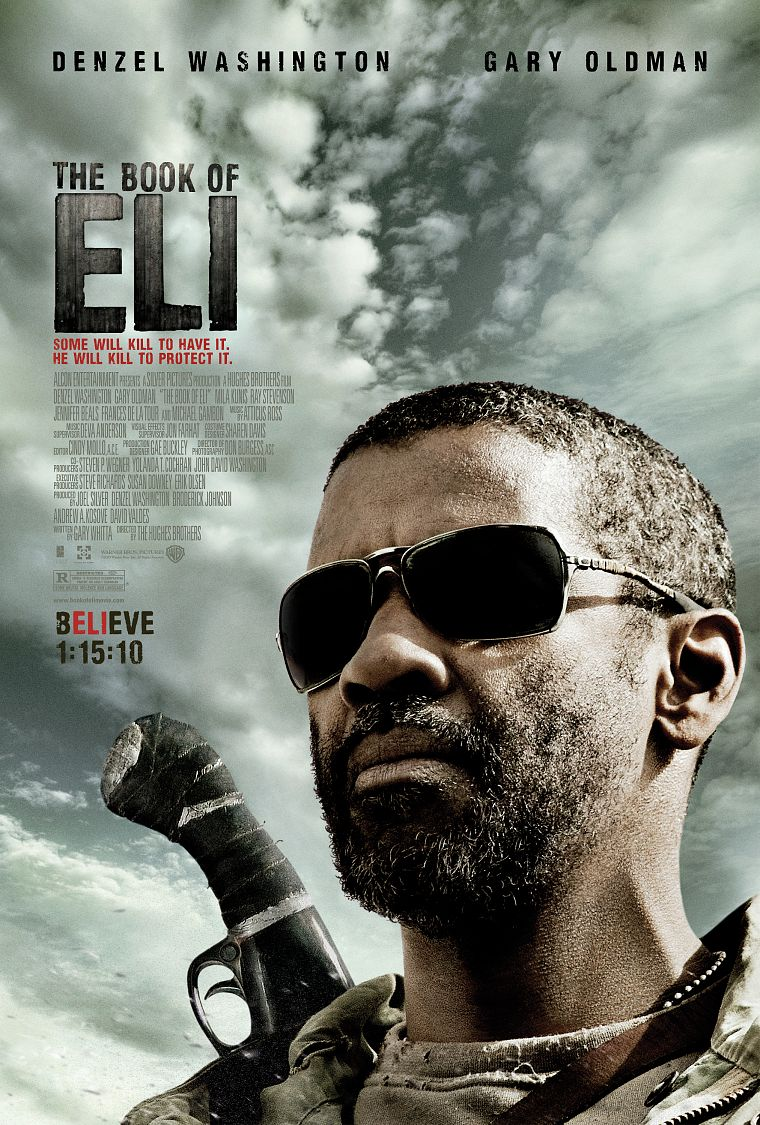 The Book of Eli, Denzel Washington, movie posters - desktop wallpaper