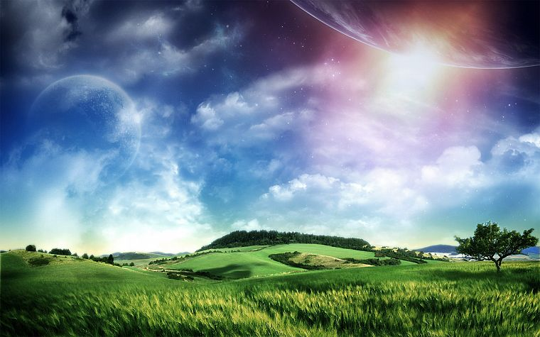 abstract, nature, fields, skyscapes - desktop wallpaper