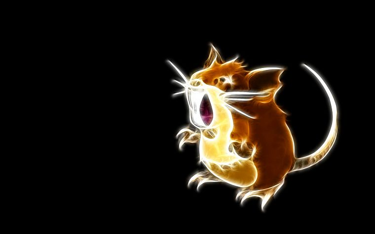 Pokemon, raticate, simple background, black background - desktop wallpaper