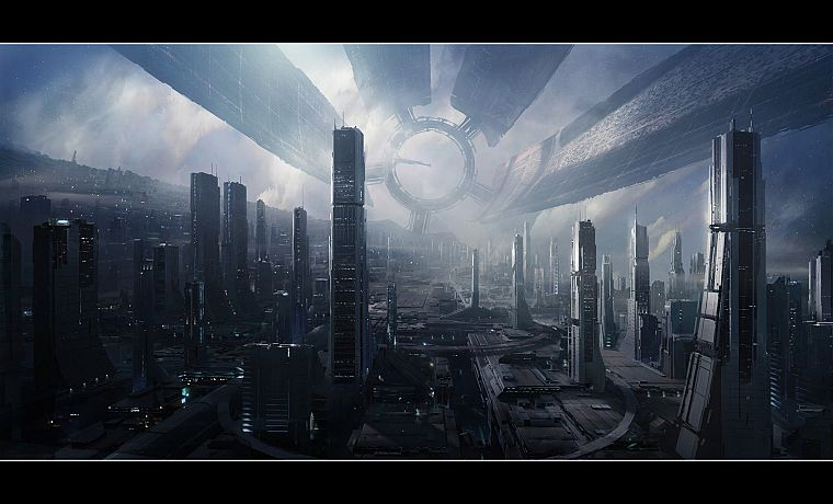 cityscapes, futuristic, Mass Effect, buildings, Mass Effect 2, Mass Effect 3 - desktop wallpaper