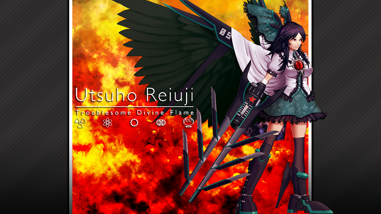 Touhou, wings, skirts, weapons, mechanical, thigh highs, cannons, capes, Reiuji Utsuho, anime girls - desktop wallpaper