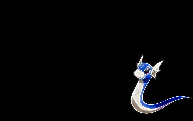 Pokemon, Dragonair, black background - desktop wallpaper