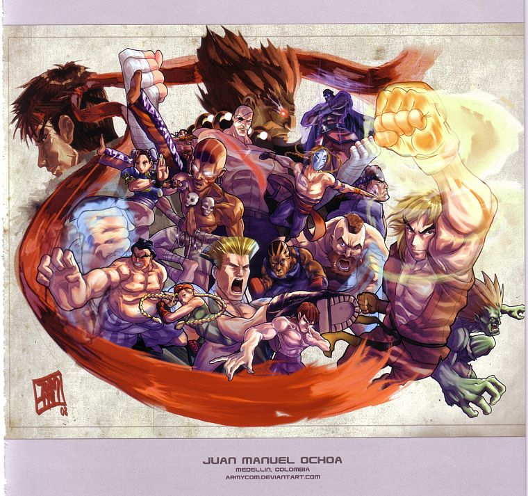video games, Street Fighter, artbook, artwork - desktop wallpaper