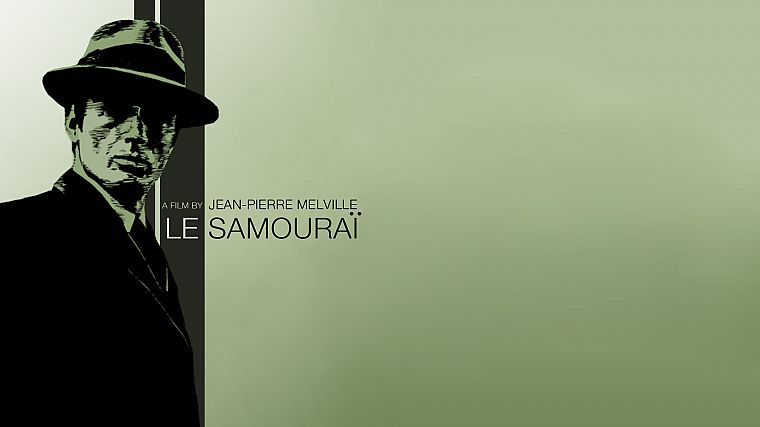 movies, monochrome, Le samourai - desktop wallpaper